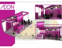 Booth Exhibition 3D model - Propose design for AEON.