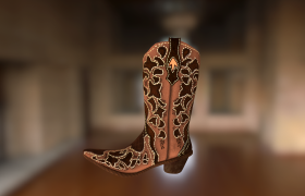 3d Props 3D model - 3d Boot modeled in Maya and textured (hand painted) in Photoshop.