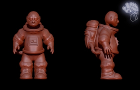 Astronaut 3D model - Sculpt before polypainting