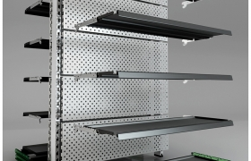 Shelves for Shopping mall & Shops 3D model - Exploded view of the shelf
