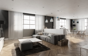 Apartment interior 3D model