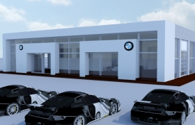 car showroom 3D model