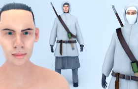 Simo Häyhä 3D model - 3D Character design, Blender 3D, Cycles
