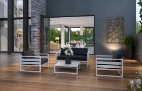 Modern home 3D model - Modern, chic, straightforward design.