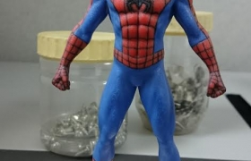 Custom head color 3d print - Spiderman 3D model
