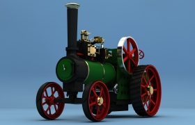 Steam Tractor MINNIE 3D model - Steam Tractor MINNIE