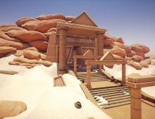 SUN TEMPLE, REAL TIME MODULAR ENVIRONMENT 3D model - ancient sun temple, exterior