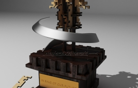 "Trophy ""For future"" 3D model"