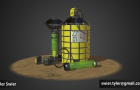 Hydrochloric Acid Grenade 3D model