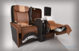 Iberia Business Class Seat Modellling and Rendering 3D model