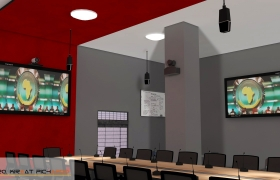 Videoconference room -Interior Design- 3D model