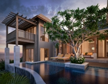 Mix Exterior Renderings 3D model - WAKA Residence, Bali