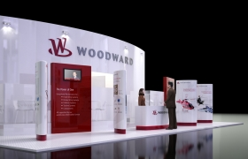 Woodward Exhibition stand 3D model - Woodward Exhibition stand