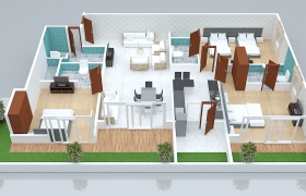 3d layout design 3D model