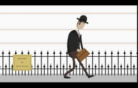 Ministry of Silly Walks Animation 3D model - Short animation of Monty Python's Silly Walk.
