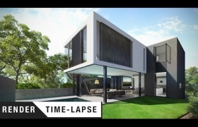 I House 3D model - Time lapse for project.