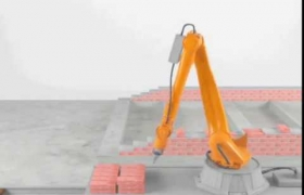 3D robot KUKA animation + sound SFX 3D model