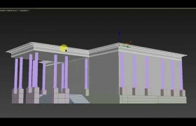 white house  modeling 3D model