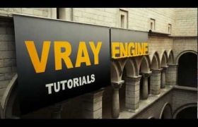 Vray Engine Studio Banners Rolling  3D model