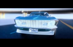 CGI Ford Mustang 3D model