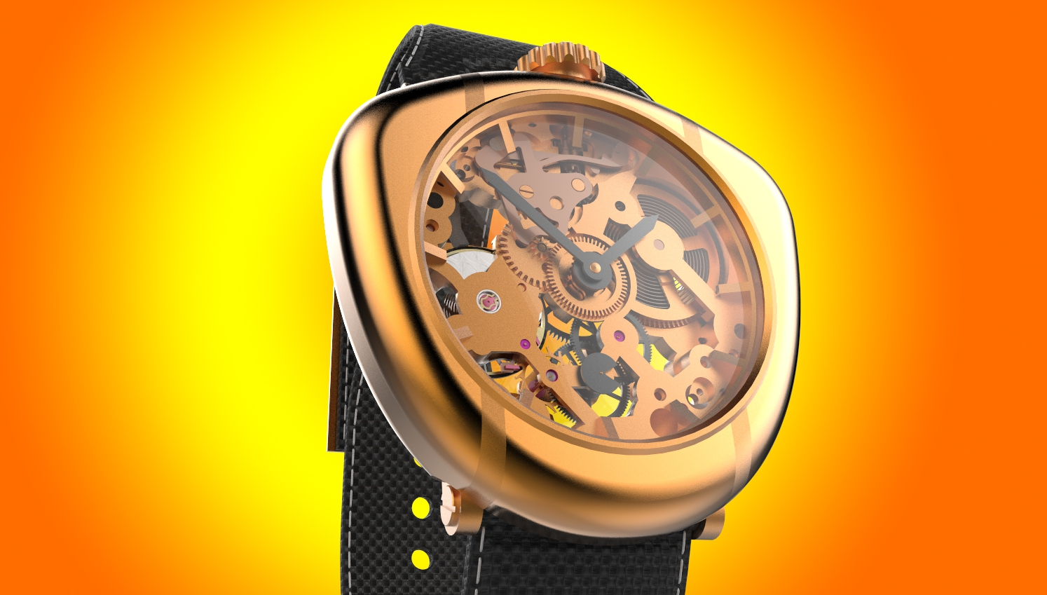 Skeleton Watch Design & development | Freelancers 3D