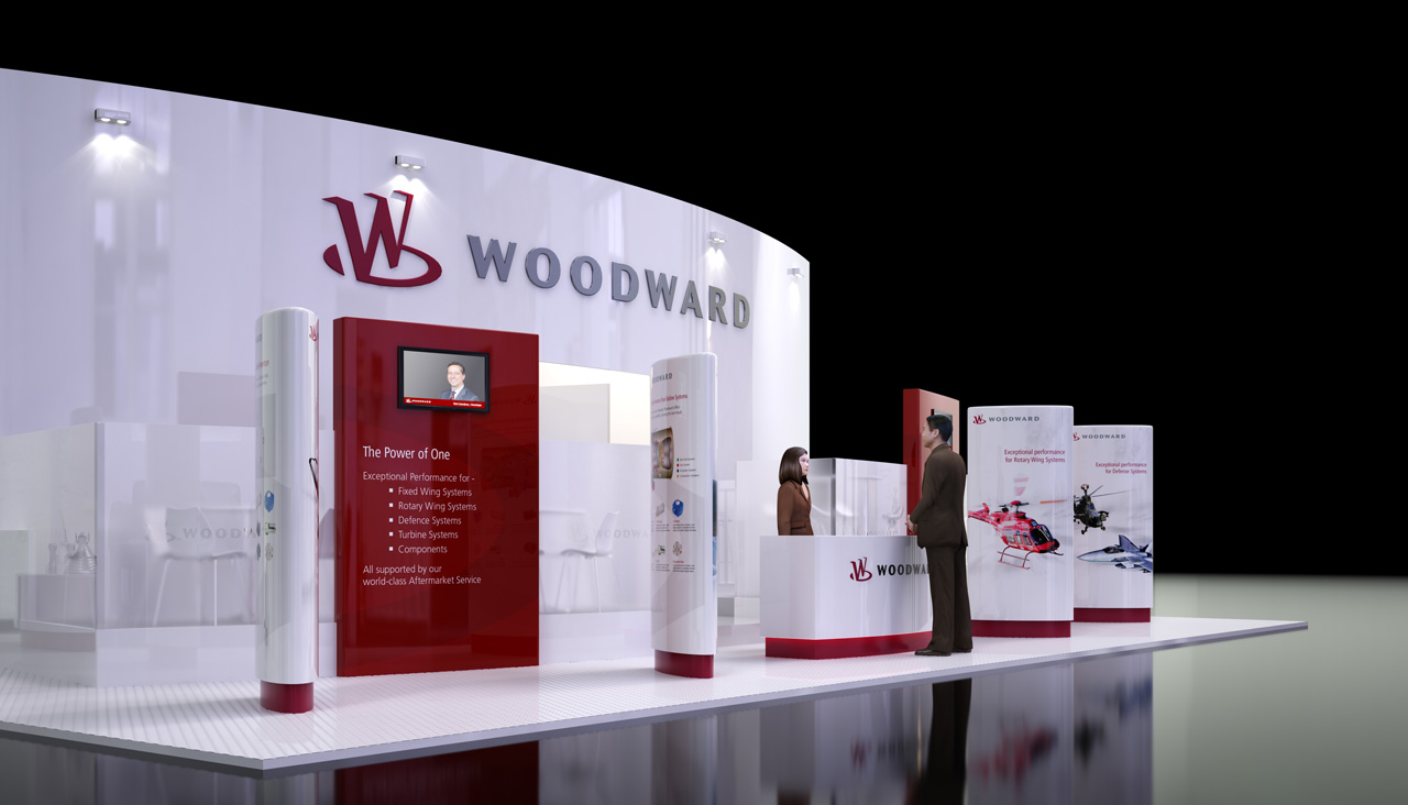 Exhibition Stand Visualisation : Woodward exhibition stand freelancers 3d